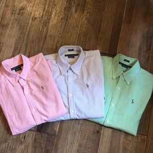 Set of 3 Ralph Lauren button down shirts